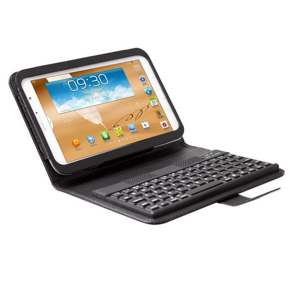 BLUETOOTH KEYBOARD Black Leather Folio Case For SAMSUNG GALAXY NOTE 8.0""
