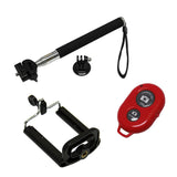 Selfie Monopod + Smartphone Holder w/ Bluetooth Remote Control Shutter for iPhone & Android phones