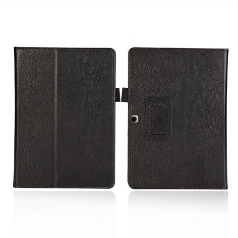 Black Leather Folding Folio Case For SAMSUNG GALAXY TAB Pro 10.1""