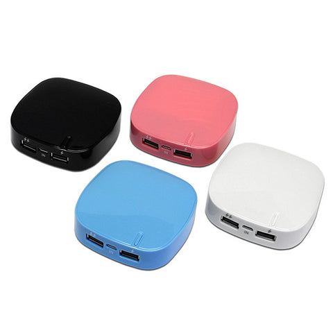 Mobile USB Charger Pocket Power Bank 6000mAh Dual Port with LED Indicator