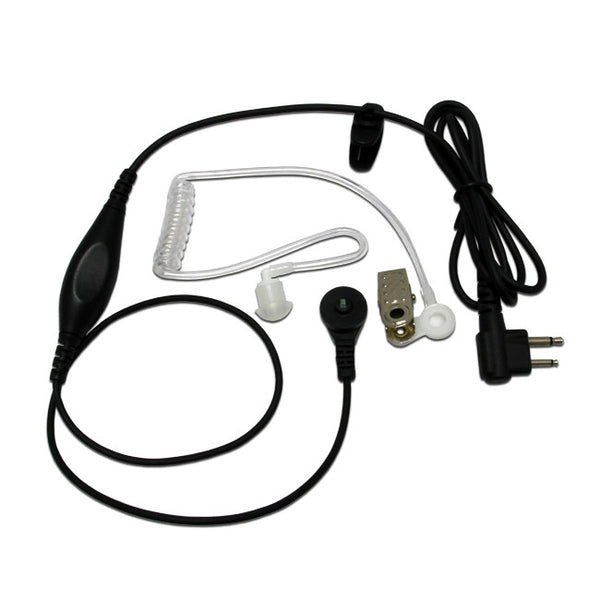 Surveillance 1-Wire Headset Earpiece Waterproof PTT Mic for KENWOOD 2-WAY RADIOS