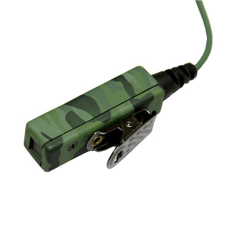 Camouflage Covert Earbud Mic Coil Cord with KEVLAR Reinforced  for MOTOROLA 2-WAY RADIOS