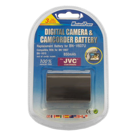 Camcorder Battery For JVC BN-V607 BN-V607U