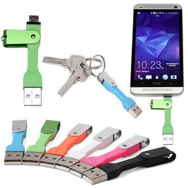 Micro USB Keychain Sync Charge For Samsung Note 2 3 4 Edge Galaxy S2 S3 S4 S5 S6 Edge and other Micro-USB Smartphone devices