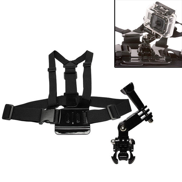 Elastic Chest Strap with 3-Way Adjustment Base for GoPro Hero Session 4 3+ 3 2