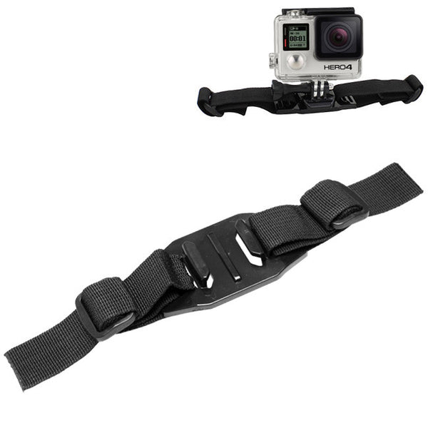 Helmet Strap Mount for GoPro HD Hero 2 3 3+ 4 | For Cycling Snowboarding and Other Outdoor Sports