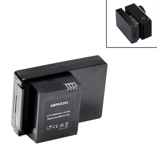 External Battery BacPac 3400mAh For GoPro Hero3 Hero3+ Extended Recording Time