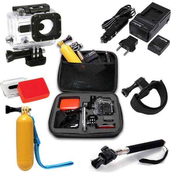 7in1 Outdoor Water Sports Kit + Durable Protective Case Bag for GoPro Hero 3 3+