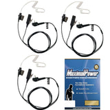 Surveillance Headset Earpiece PTT Mic for VERTEX Radio w/ KEVLAR Enforcement Combo Pack