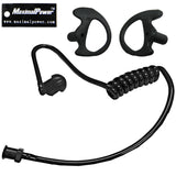 Black Twist On Replacement Acoustic Tube + Left & Right Ear Earmold Earbud Medium size for Two-Way Radio Headsets Combo