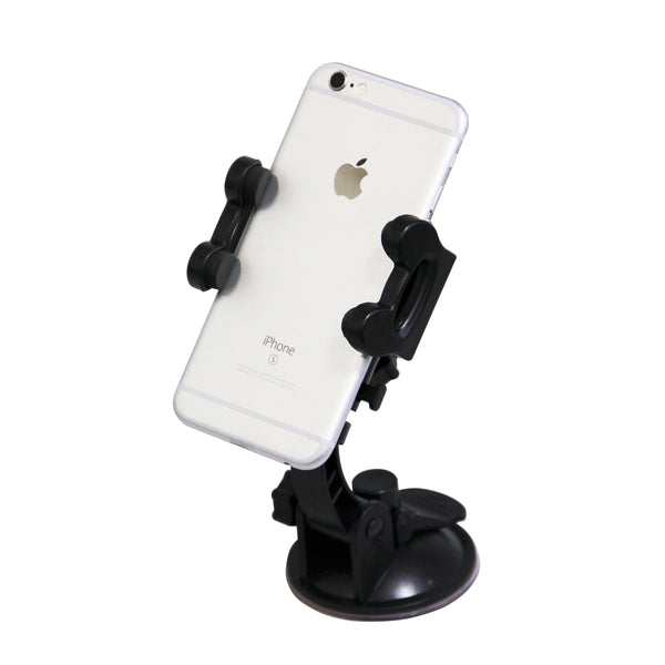 MaximalPower 3-in-1 Universal Mount Phone Holder for Car Windshield Air Vent or Dashboard