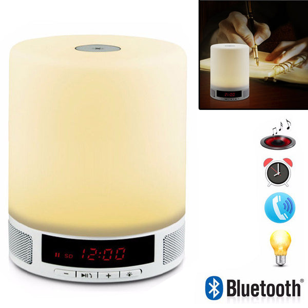 MULTIFUNCTIONAL Portable Wireless Bluetooth Music Speaker LED Desk Touch Lamp