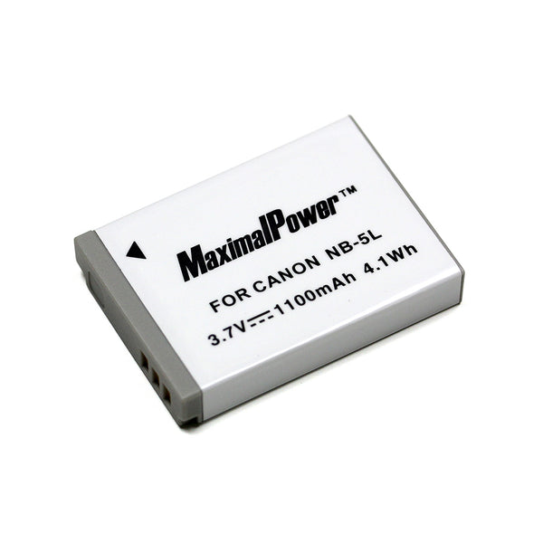 Replacement 1100mAh CANON NB-5L Camera Battery for PowerShot ELPH SD790 SD800 SD850 SD870 IS