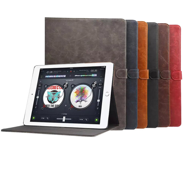PU Leather Smart Folding Folio Case Credit Card Slot for Apple iPad Pro 12.9""
