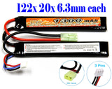 Charger and Battery Selection for LiPo Lithium Polymer LiPo Airsoft AEG PEQ Battery Connector: Mini-tamiya