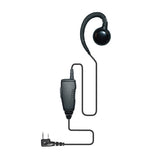New Surveillance C shape Earpiece Kevlar in Cable PTT Mic for KENWOOD 2 pin