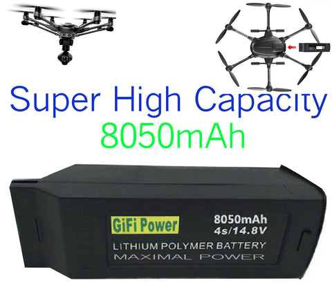 MaximalPower Gifi Power YUNEEC 8050mAH High Power Drone 4S Li Po Battery for Typhoon H