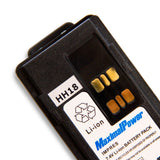 2500mAh Li-Ion Battery for Motorola 2-way Radio XPR7550 with Belt Clip