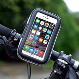 Detachable Swivel Smartphone Mount on Handlebar for Bike Motorcycle w/ Water Resist & 3D Touch Case