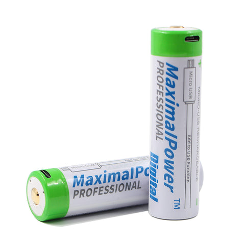 MaximalPower 18650 Rechargeable Batteries 3.7v 3400mAh