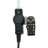 3.5mm Jack Listen ONLY Headset w/ Clear Acoustic Tube & Earbud for 2-Way Radios (Short Cord)