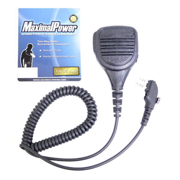 Speaker Microphone Lapel with 3.5mm Jack for Hytera 2-pin Two-Way Radios (RM HYT SM-108)