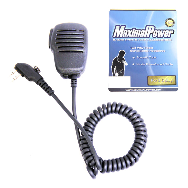 Speaker Microphone Lapel with 2-pin Connector & 3.5mm Jack for Hytera Two-Way Radios HYT SM-008
