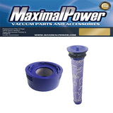 MaximalPower™ Pre and Post HEPA Replacement filter for Dyson V7/V8 (Pre-filter # 96566101 and Post-filter # 96747801)