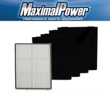 MaximalPower NON-OEM Whirlpool HEPA Purifier Filter + 4 PC Carbon Filter Whispure AP450 AP510