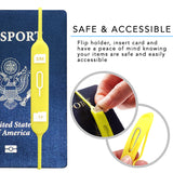 2-in-1 Travel Micro/Nano SIM Card MicroSD/TF Card Holder For Passport Case Journal