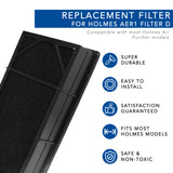 Replacement HEPA Filter for Holmes AER1 Ready Air Purifier D Filter (With Fitted Pre-Filter Carbon Sheet)