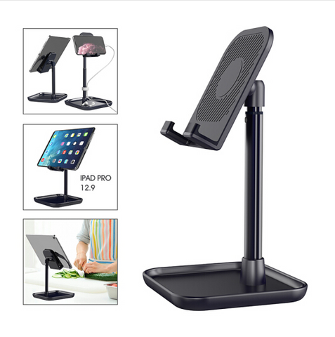 Desktop Phone/Tablet Mount Stand w/ Base for iPhone iPad Switch