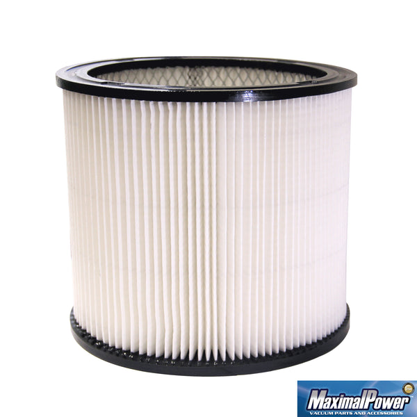 MaximalPower™ Replacement Shop-Vac Cartridge Filter | Resuable, fits most 5 gallon Vacuum, with Dusting brush Combo