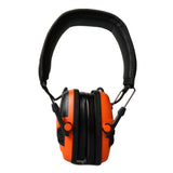 MaximalPower Electronic Hearing Protective Shooting Earmuffs Headset - Orange | Foldable & Reduce Noise 32dB NRR