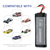 MaximalPower Replacement 7.2V 3600mAh Battery for RC Remote Control Vehicles for RC Car Plane Trucks Cart Hobby Toys