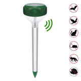 "MaximalPower Solar-Powered Pest Repellent Garden Light with 12"" Aluminum Tube Stake"