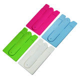 Universal silicone 3M adhesive card set and holder for Smartphone