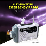 Multi-Functional Emergency Radio | Weather Forecast, Flash-SOS Light, Power Bank 1500mAh