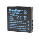 Camera Battery For SANYO DB-L20