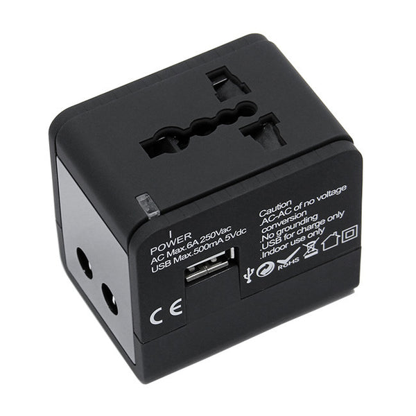 Universal World Travel Plug Adapter 150+ Countries UK US AU EU with USB PORT