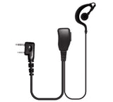 MaximalPower Pin Earpiece w/ Rubber Earhook and Earbud for Kenwood 2 way radio