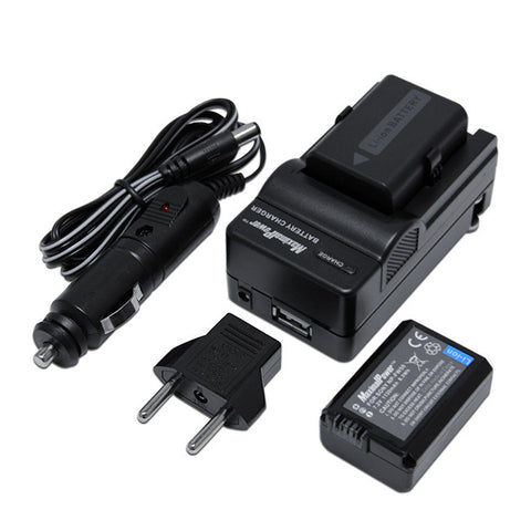 Pack of 2 Camera Batteries and 1 Charger  For SONY NP-FW50