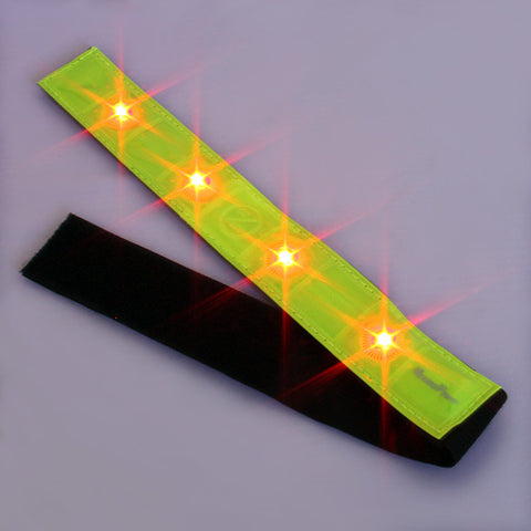 Roadside X-Training Cross Country Cycling Safety Band Reflective 4 LED Lights