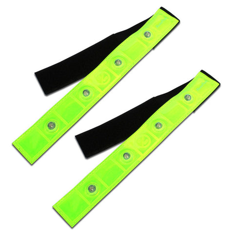 Pack of 2 Roadside X-Training Cross Country Cycling Safety Band Reflective 4 LED Lights