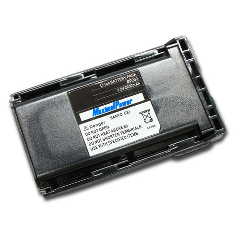 2-Way Radio Battery For  ICOM BP232 BP-232  JAPAN SANYO CELL