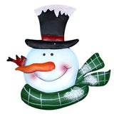 5-Ft Christmas Snowman Flag Solar Light Lantern Holiday