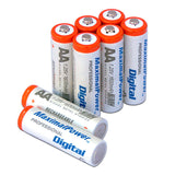8-Port AA AAA Ultra Fast Charger + 8x AA Rechargeable Batteries(1600mAh)