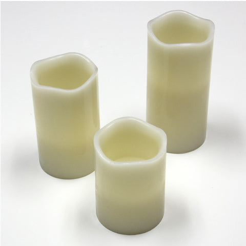 "New Battery Operated Flame less LED Candles with Remote (1) 4"" (1) 5"" (1) 6"""