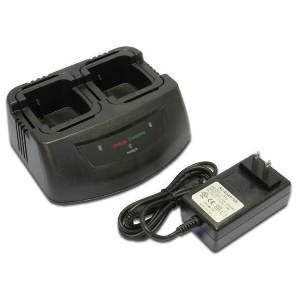 Two-Way Radio Dual Charger for MOTOROLA  NTN8923, NTN8923AR, NTN8294, NTN8294A, NTN8294AR, NTN8294B, NTN8294BR