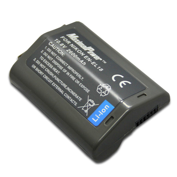 Replacement 2600mAh Li-ion Battery for NIKON EN-EL18 ENEL18 Camera Battery D4 DSLR